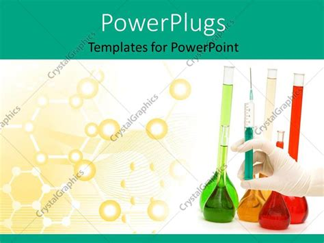 Powerpoint Template Hand With Syringe And Tubes With Chemical Bonds In The Background 28413 Chemistry Powerpoint Templates Free