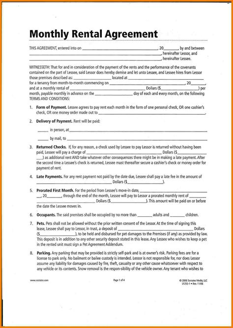 Contract Month Letter 8 Lease Agreement Month To Month Assistant Cover Letter