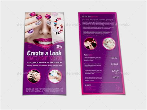 flyer templates nail salon nail salon dl flyer template by owpictures graphicriver