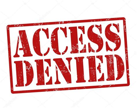 denied rubber st access denied st stock vector 169 roxanabalint 29197861