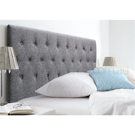 florence space grey upholstered king headboard buy king
