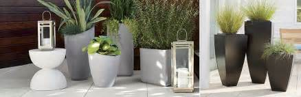 Square Plastic Vases Outdoor Planters Pots And Garden Tools Crate And Barrel