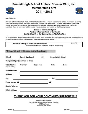 Simple Volleyball Score Sheet Forms And Templates Fillable Printable Sles For Pdf Word Booster Club Membership Form Template