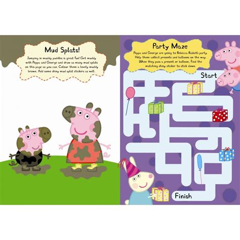 libro the play of george peppa pig and george s shiny sticker play book english wooks