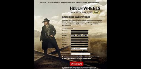 Amc Com Sweepstakes - amc com raisehellsweepstakes amc hell on wheels raise hell sweepstakes