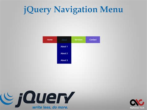 jquery design guidelines jquery navigation menu exles step by step tutorial guide