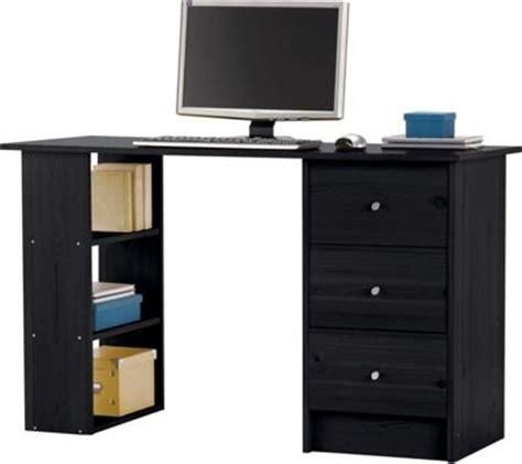 Malibu 3 Drawer Home Office Desk Black Modern Desks Homebase Computer Desks