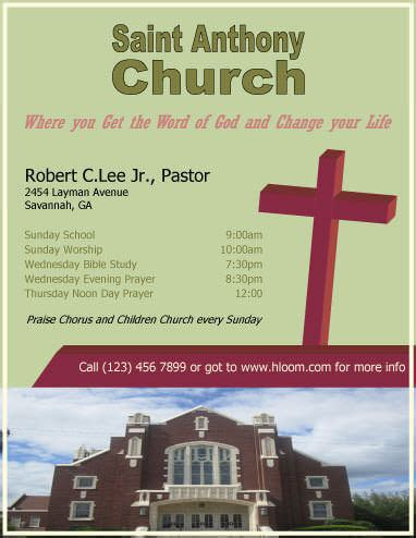 free church flyer templates 12 free flyers to promote church events