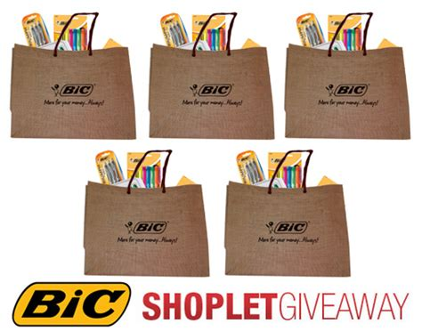 Eco Friendly Giveaway Ideas - win a bag full of bic products shoplet blog