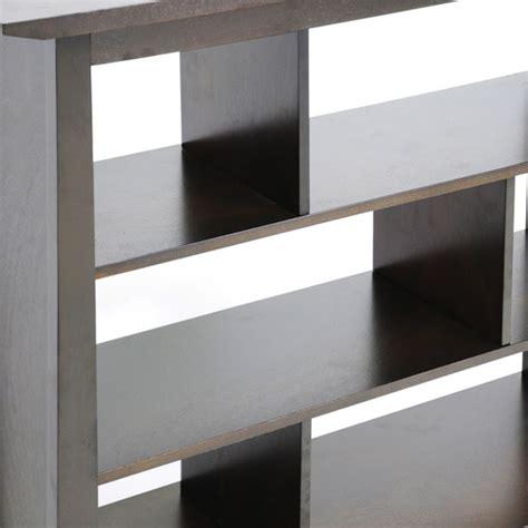 havana brown wood tall bookcase modern bookcases by havana brown wood modern bookcase short dcg stores