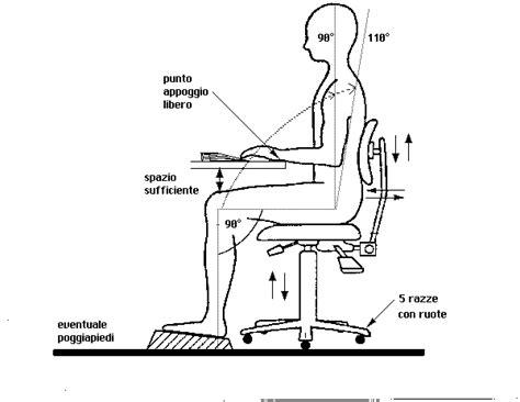 posizione della sedia posizione corpo
