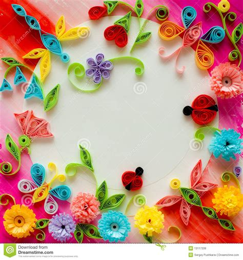 templates for quilling quilling greeting card blank template stock illustration
