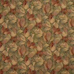 Furniture Tapestry Fabric Burgundy And Green Floral Leaves Tapestry Upholstery