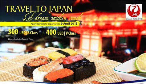 promotion on cheap japan airlines flights to japan