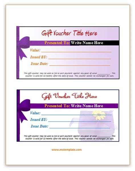 gift voucher template microsoft office templates