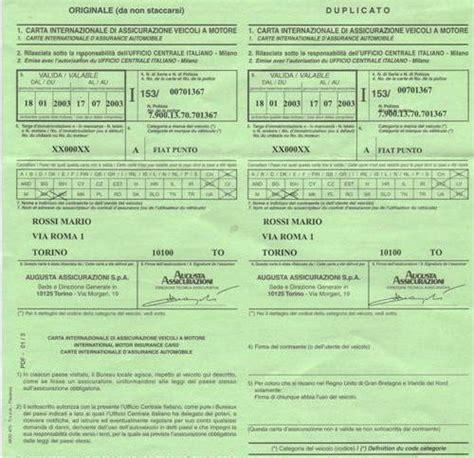 ufficio sinistri generali assicurazioni numero verde i paesi dove 232 o non 232 necessaria la carta verde