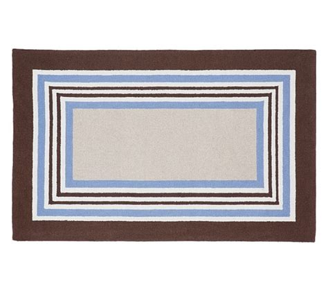 pottery barn striped rug tailored striped rug blue brown pottery barn