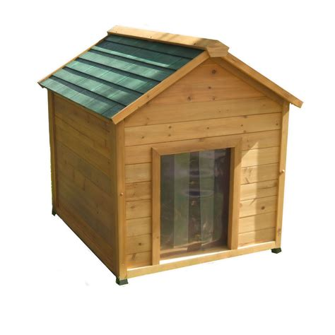 insulated dog houses large dogs shop large insulated cedar dog house at lowes com