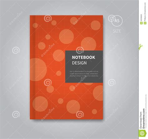 notebook design template notebook cover design template stock vector image 60336663