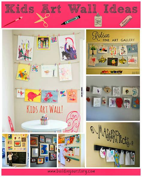 kids wall ideas kids art wall ideas building our story