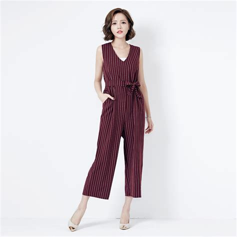 Jumpsuit Jpn mayuki womens jumpsuit in stripe with tie waist japanese korean fashion ebay