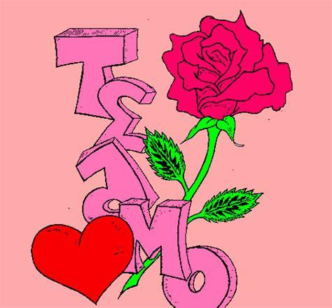 imagenes que digan te amo con una rosa dibujo de te amo ii pintado por arianna en dibujos net el