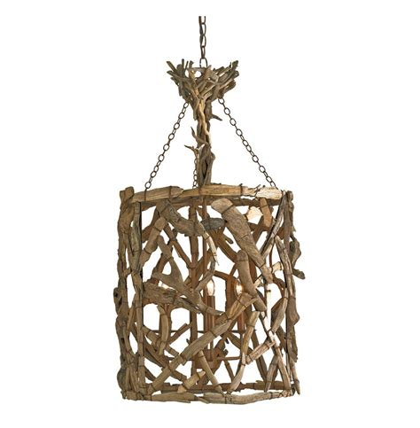 Driftwood Pendant Light Driftwood Iron Modern Rustic 4 Light Pendant Kathy Kuo Home