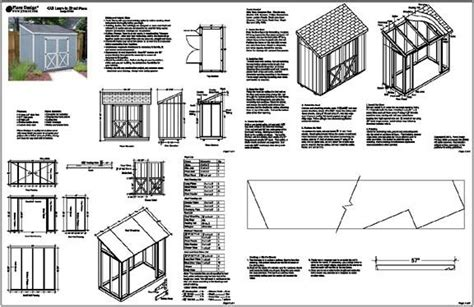 guide free lean to shed design nosote 4 x 8 slant lean to style shed plans building