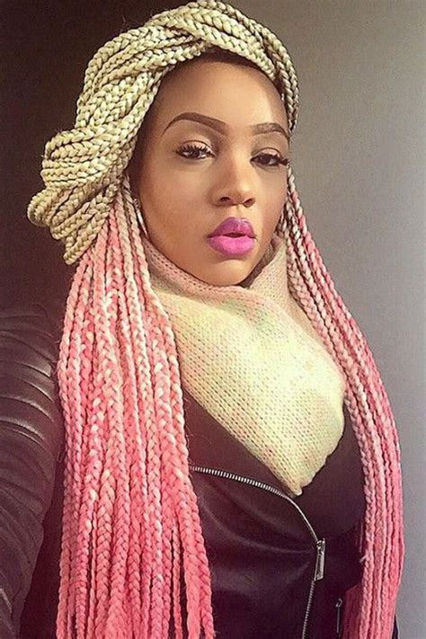 box braids type of hair brown braids color with blonde highlights pictures