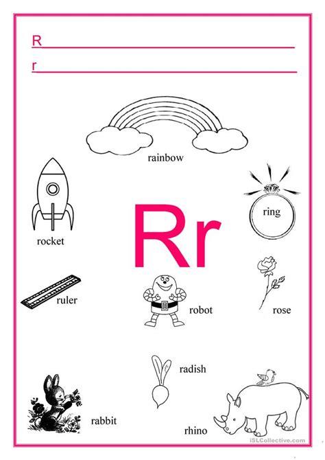 printable pictures with letter r alphabet letter r worksheet free esl printable