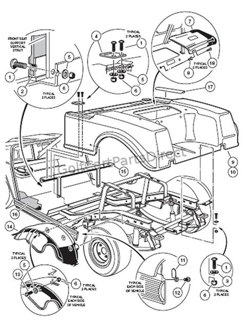 club car golf cart front suspension diagram 43 wiring