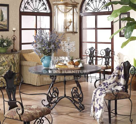 wrought iron dining room furniture the new low iron table and chairs patio furniture