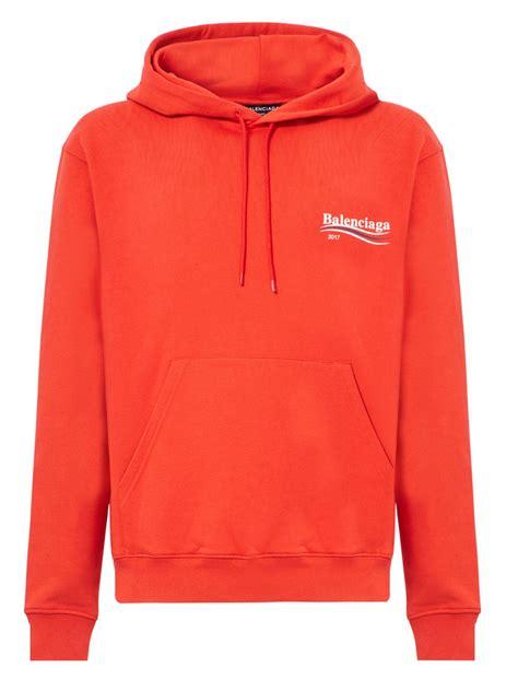 Sweater Zipper U Backfront Logo lyst balenciaga caign logo cotton hoodie in for