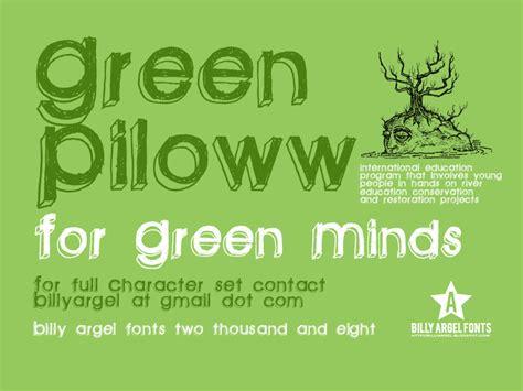 dafont latin green piloww font