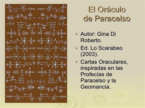 cartas orculo de las 8415292406 el or 225 culo de paracelso