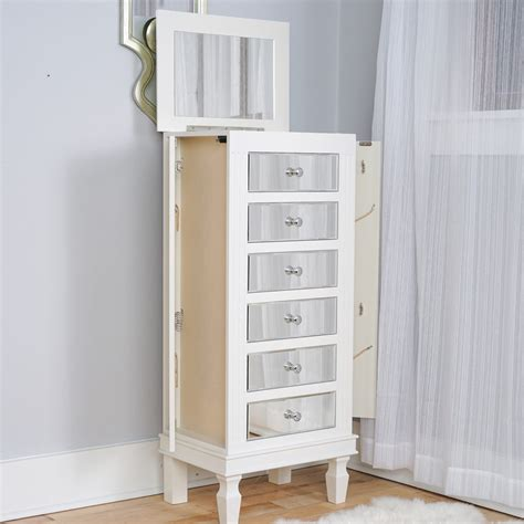 jewelry armoire white ava jewelry armoire mirrored white hives and honey
