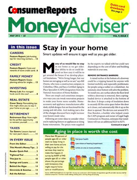 Finance Newsletter Consumer Reports Money Adviser Business Finance Magazines
