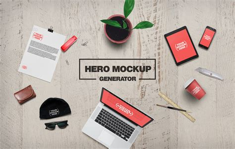 Design Mockup Generator | 35 hero images scene generators mockups designazure com