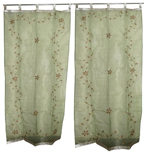 sheer curtains with stars 2 sheer organza curtains star burst green mirror