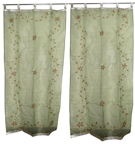 sheer curtains with stars 2 sheer organza curtains star burst green mirror