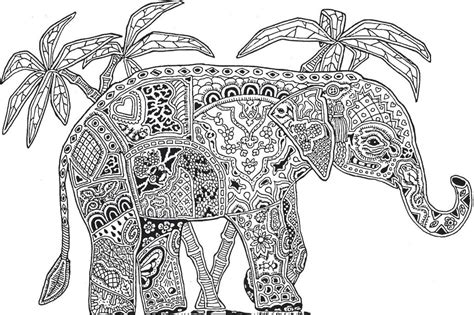 Detailed Animal Elephant Coloring Pages For Teenagers Printable Coloring Pages For Teens L