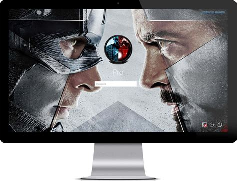 captain america lock screen wallpaper captain america civil war windows 7 theme