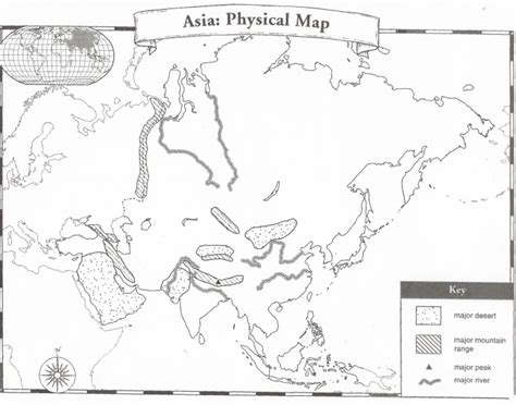 asia map test physical map of asia quiz purposegames