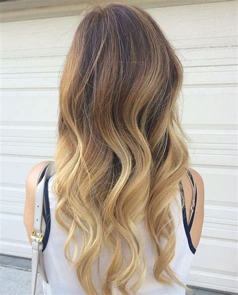 brown and blonde ombre with a line hair cut 40 blonde hair color ideas with balayage highlights