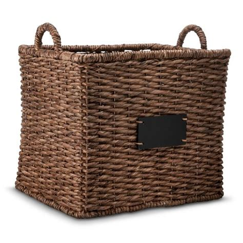 Decorative Basket by Square Decorative Basket With Chalkboard Target