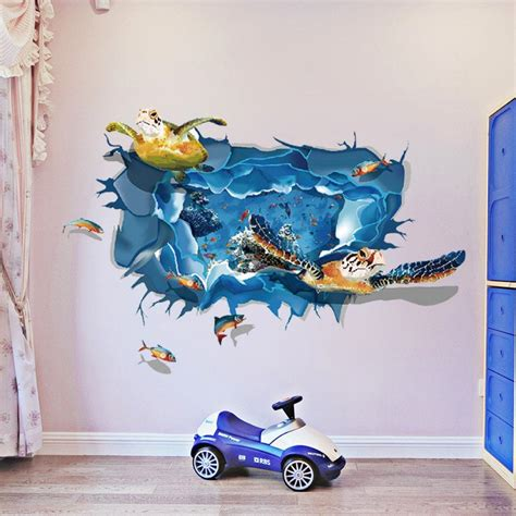 Wall Sticker Uk 60 X 90 wall stickers mixed color 60 x 90 cm sea turtle 3d wall