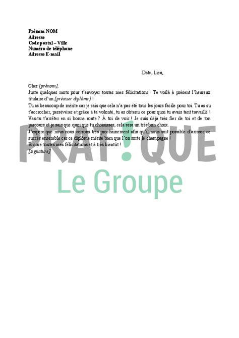Modèle De Lettre D Invitation Pour Obtention De Visa lettre de f 233 licitations pour obtention d un dipl 244 me