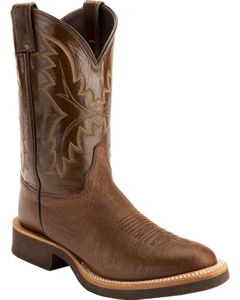 toe cowboy boots for justin antique brown smooth ostrich tek crepe cowboy boots