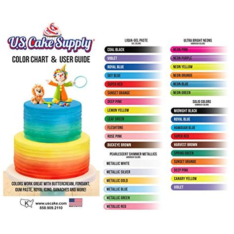 cake colors 12 color us cake supply by chefmaster airbrush cake color