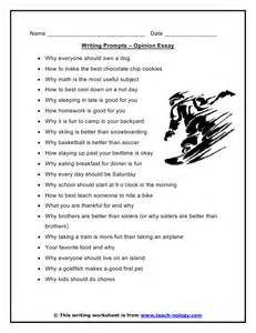 Essay Writing Prompt by Opinion Essay Writing Prompts